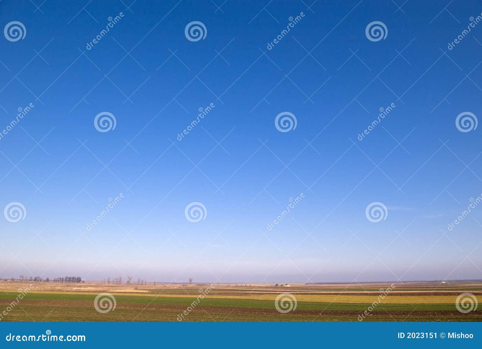 Duidelijke Blauwe Horizontale Hemel