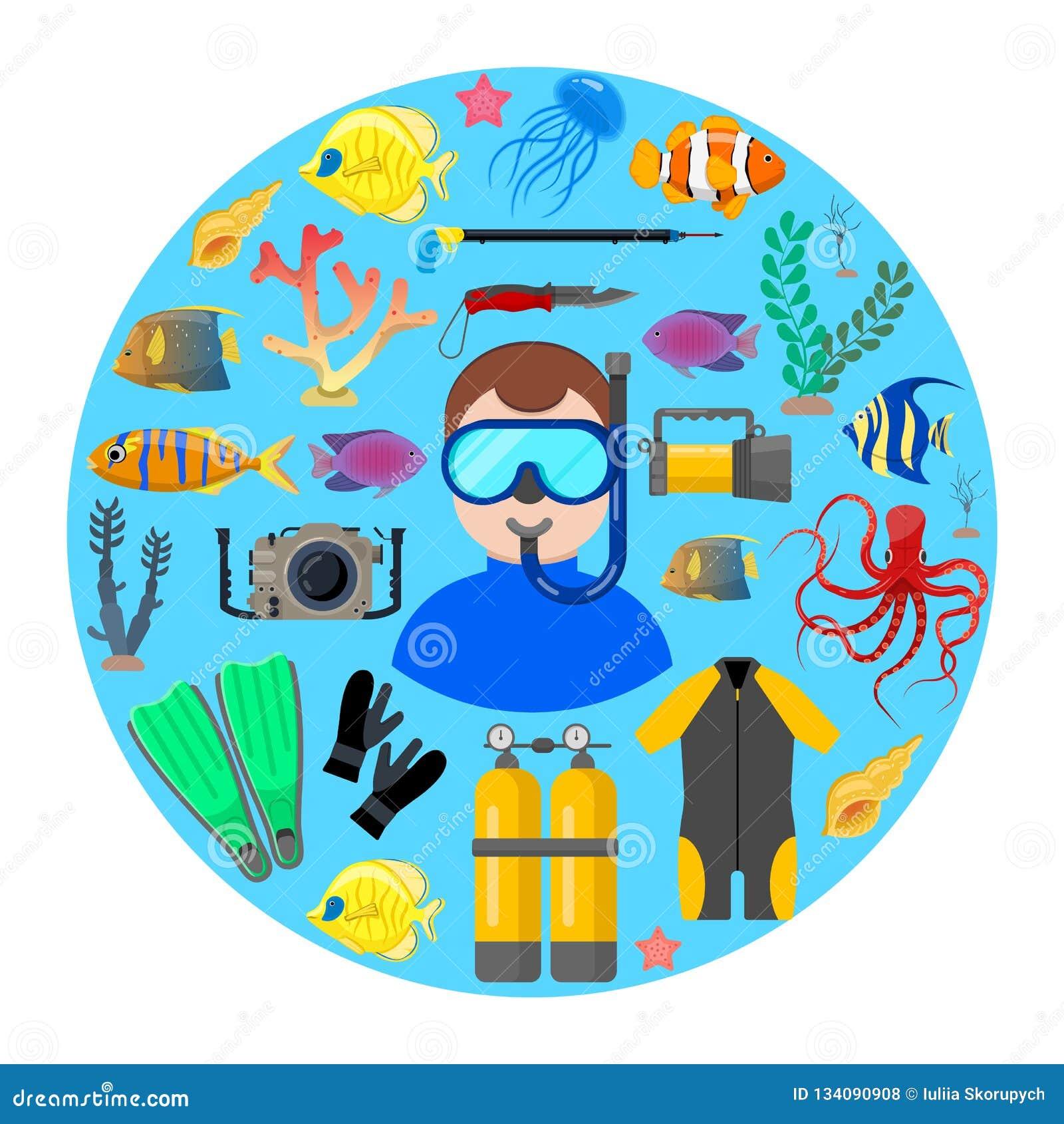 Duiker met duikuitrusting