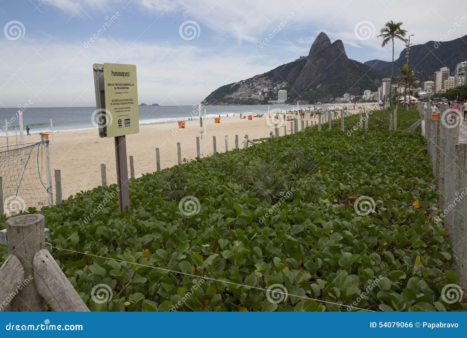 Duinenbescherming in Ipanema-Strand Rio de Janeriro