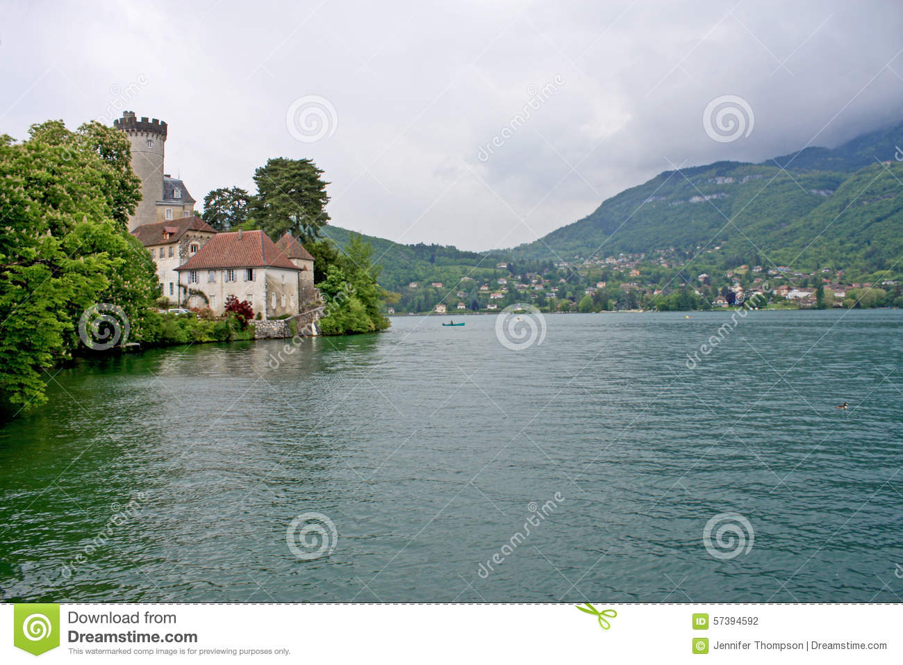 Duingt Chateau, Meer Annecy