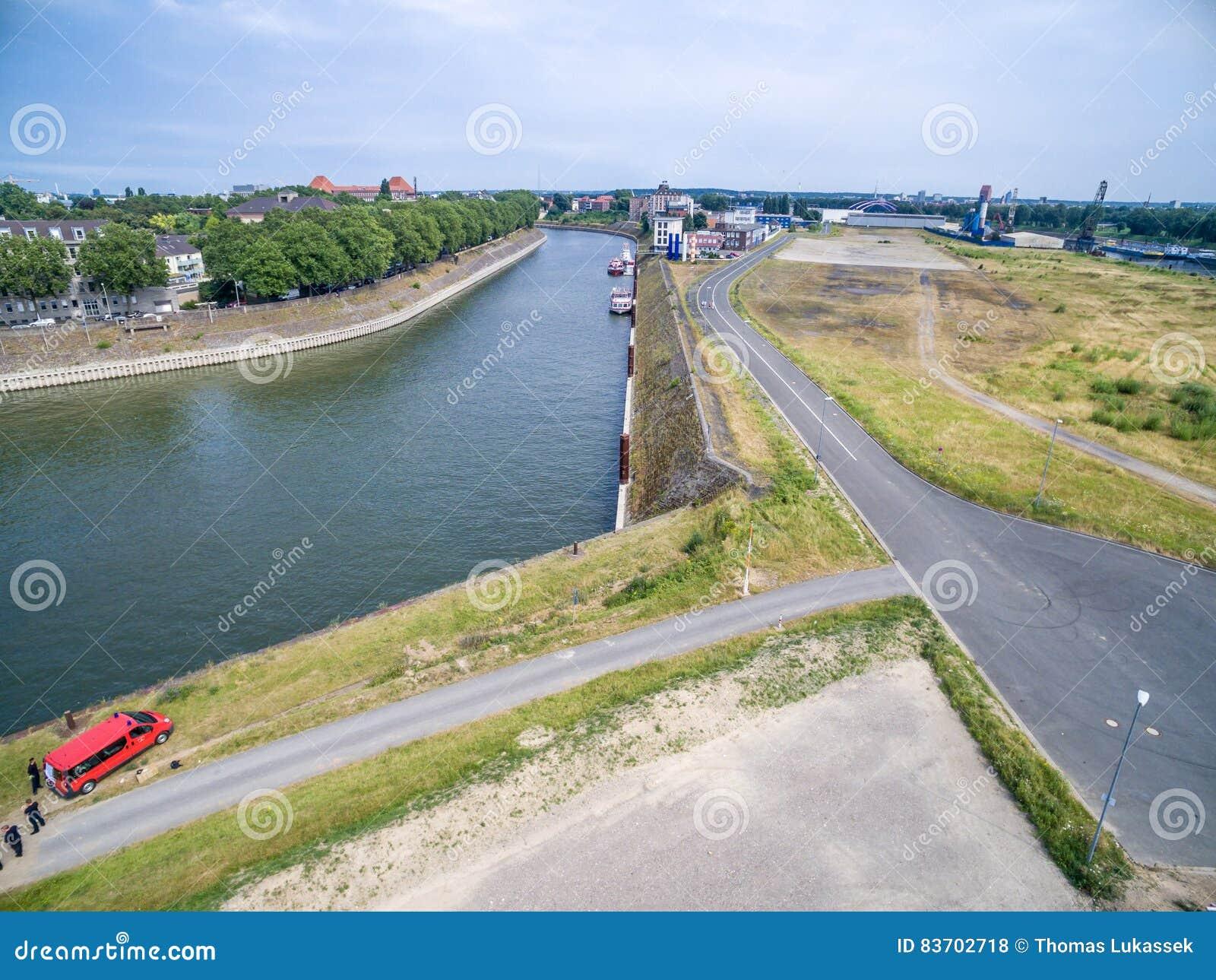 Duisburg Ruhrort Aerial Editorial Stock Photo