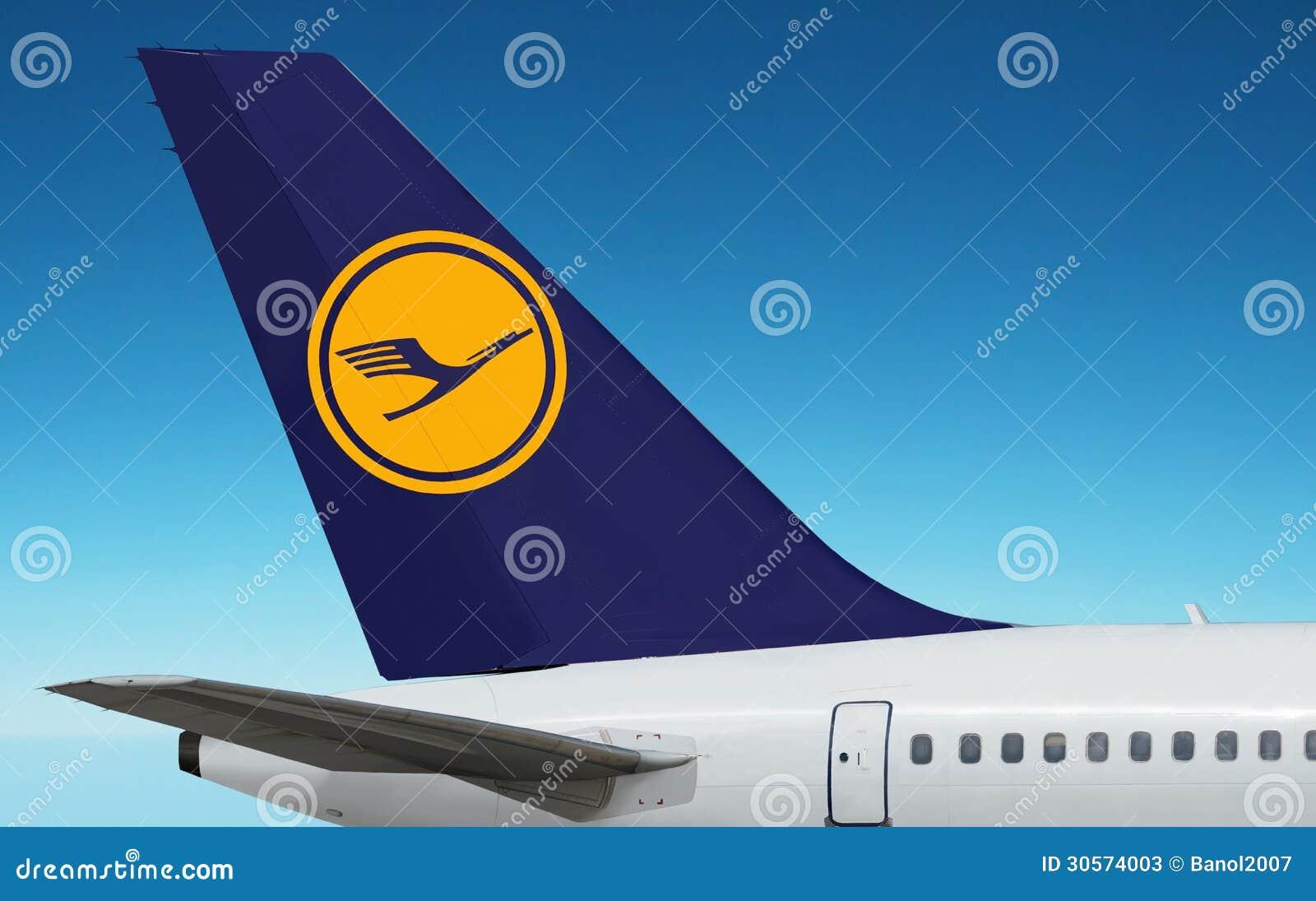 Duits De Luchtvaartlijnenembleem Van Lufthansa, Vliegtuig ...