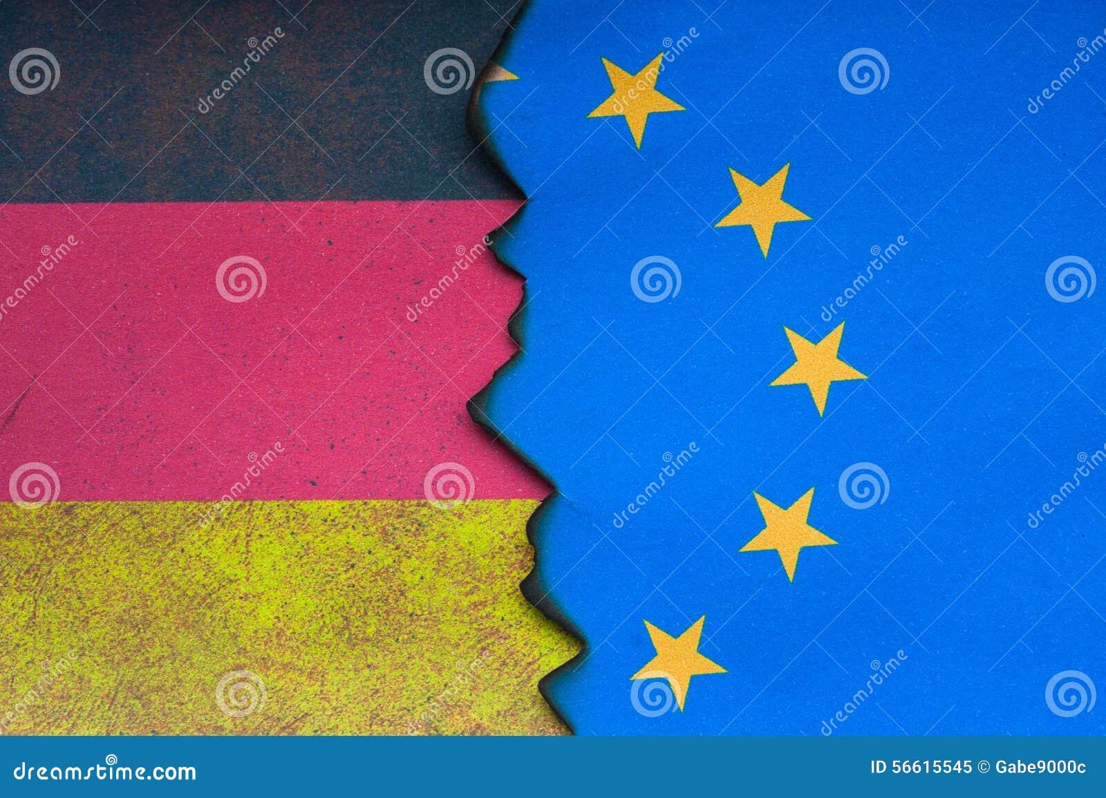 Duits Euro vlagconcept