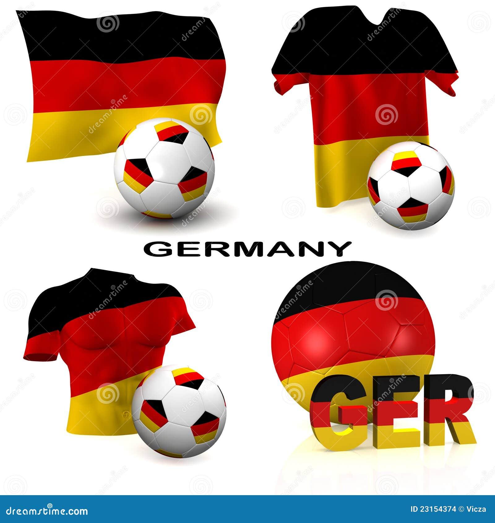 Stock Afbeeldingen: Duits Voetbal