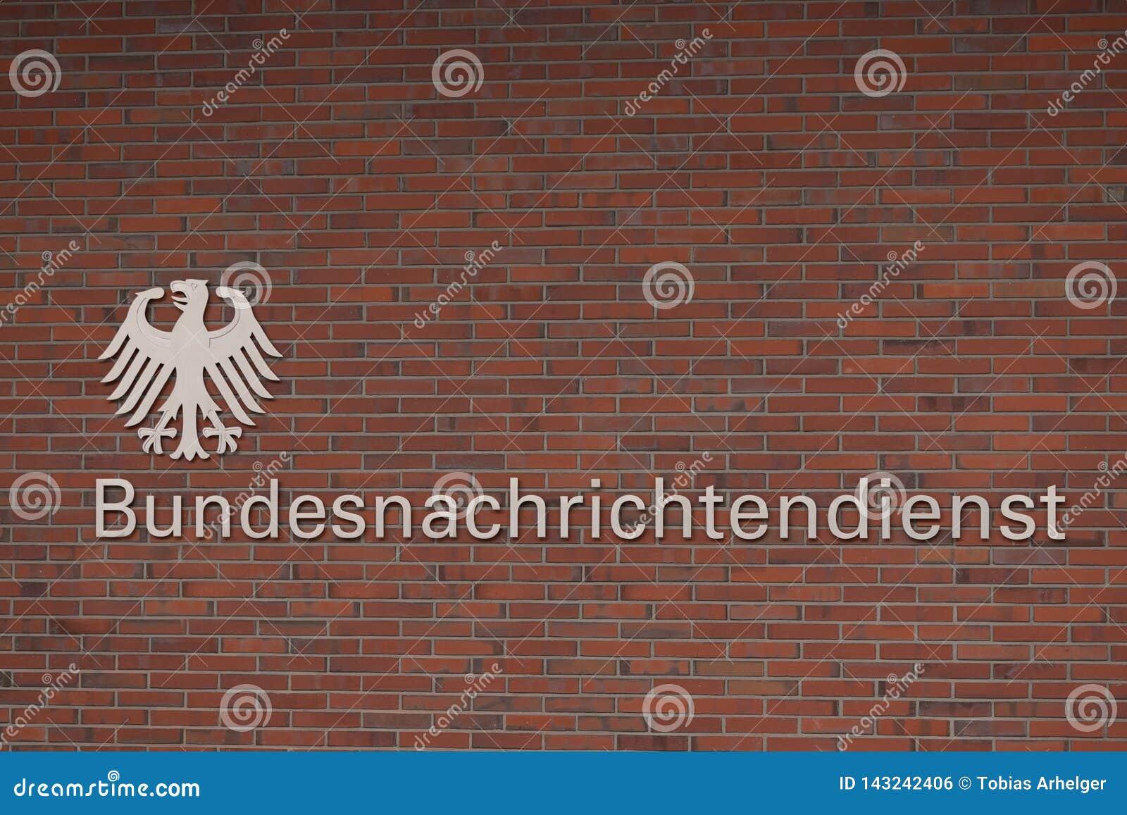 Duitse Federale intelligentie bundesnachrichtendienst in Berlijn Duitsland