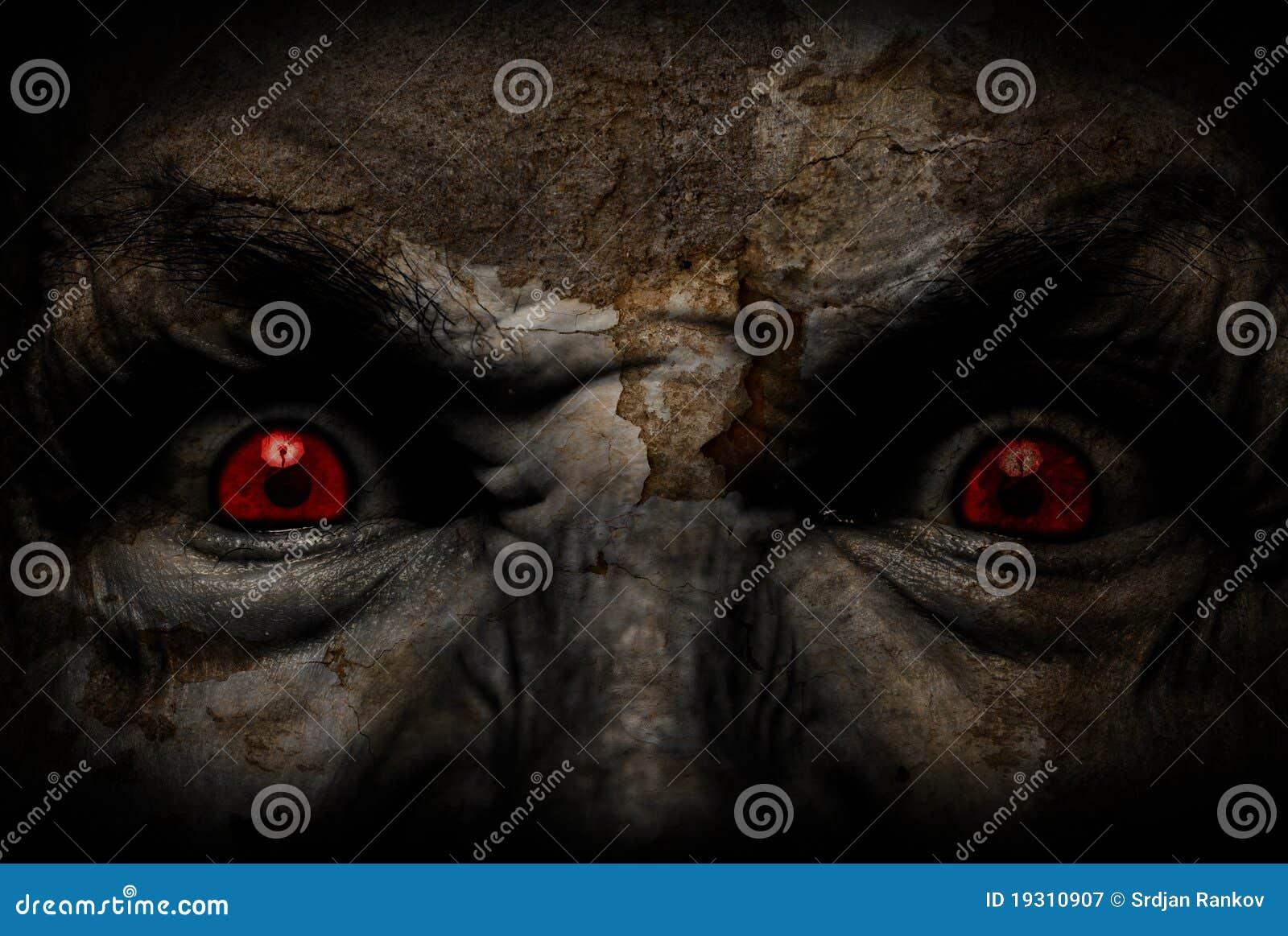 Duivels lelijk gezicht die u bekijken