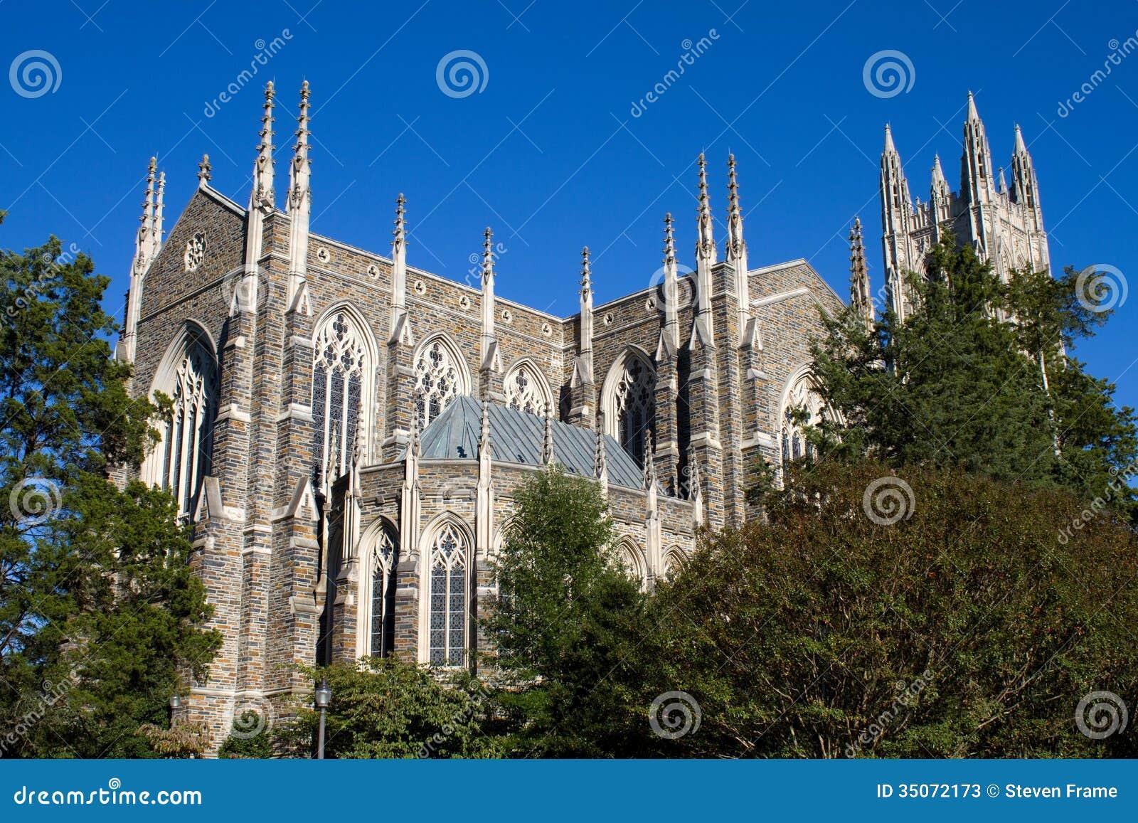 Duke University Chapel Stock Image Image Of Architectural