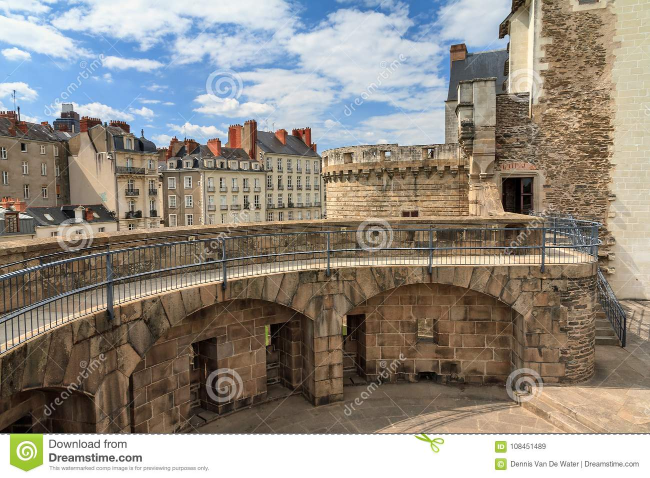 6f8460994e Beautiful summer cityscape view of The Château des ducs de Bretagne Castle  of the Dukes of Brittany a large castle located in the city of Nantes