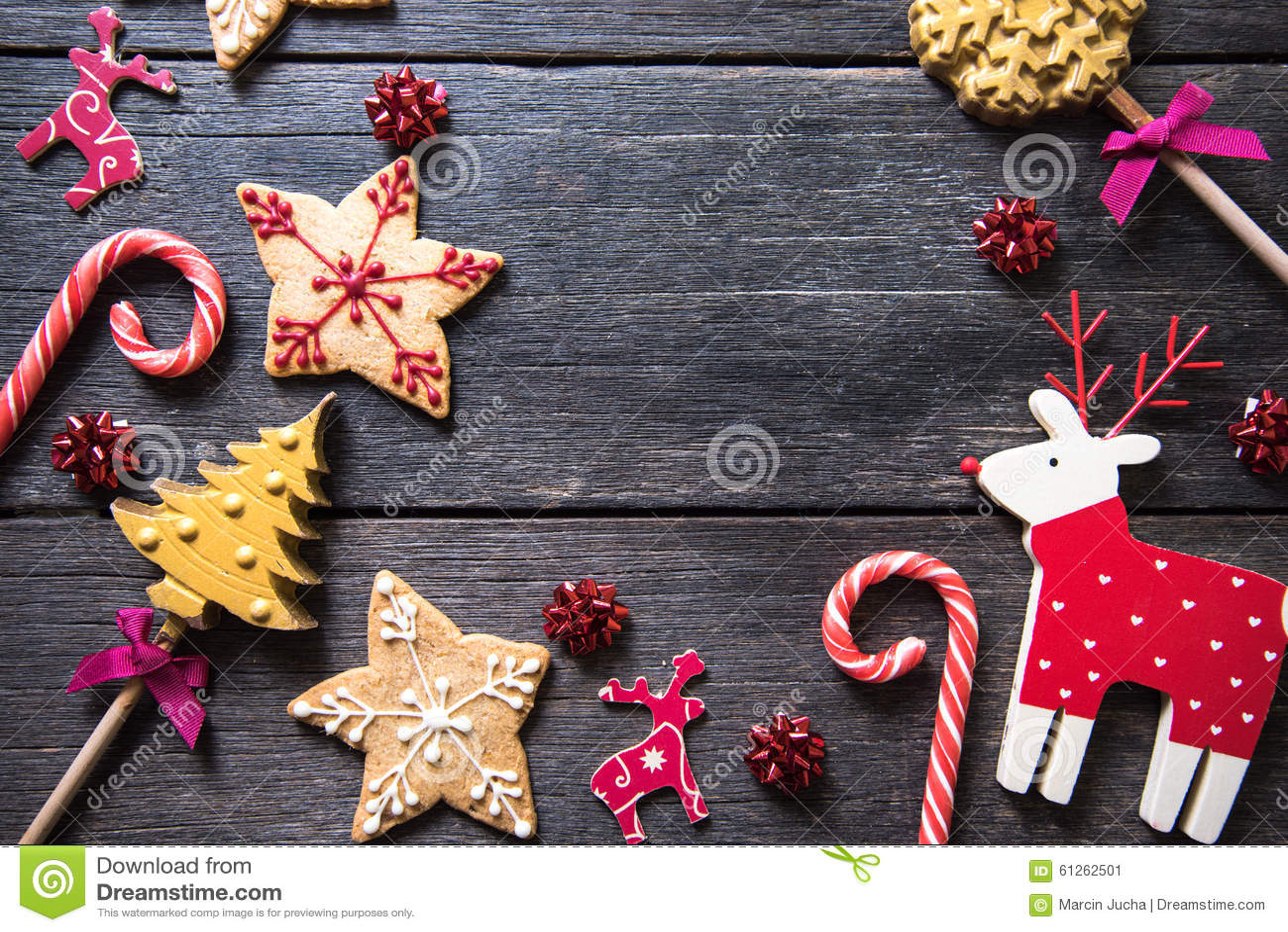 Dulces adornados hechos en casa festivos de la Navidad