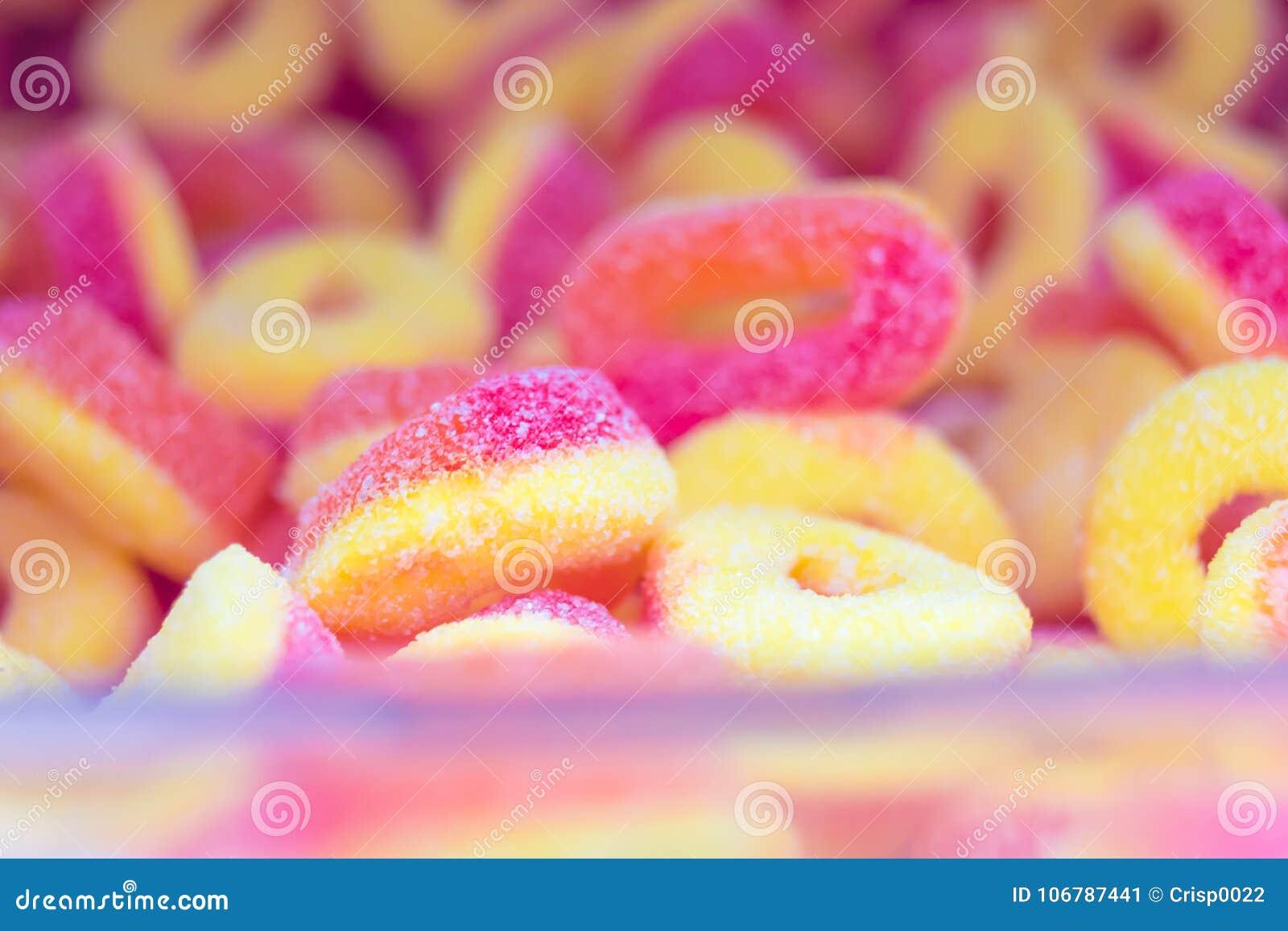 Dulces Gelatinosos Multicolores Imagen de archivo - Imagen de color ...