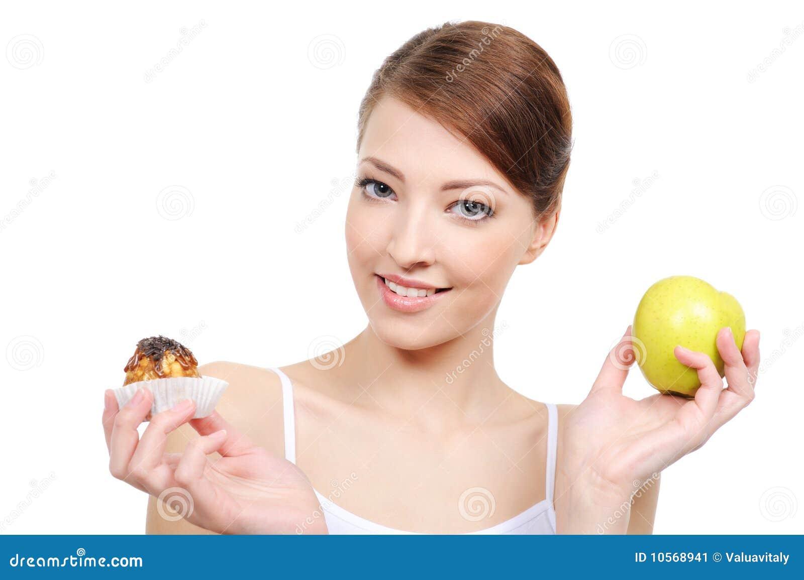 Dulces y alimento sano