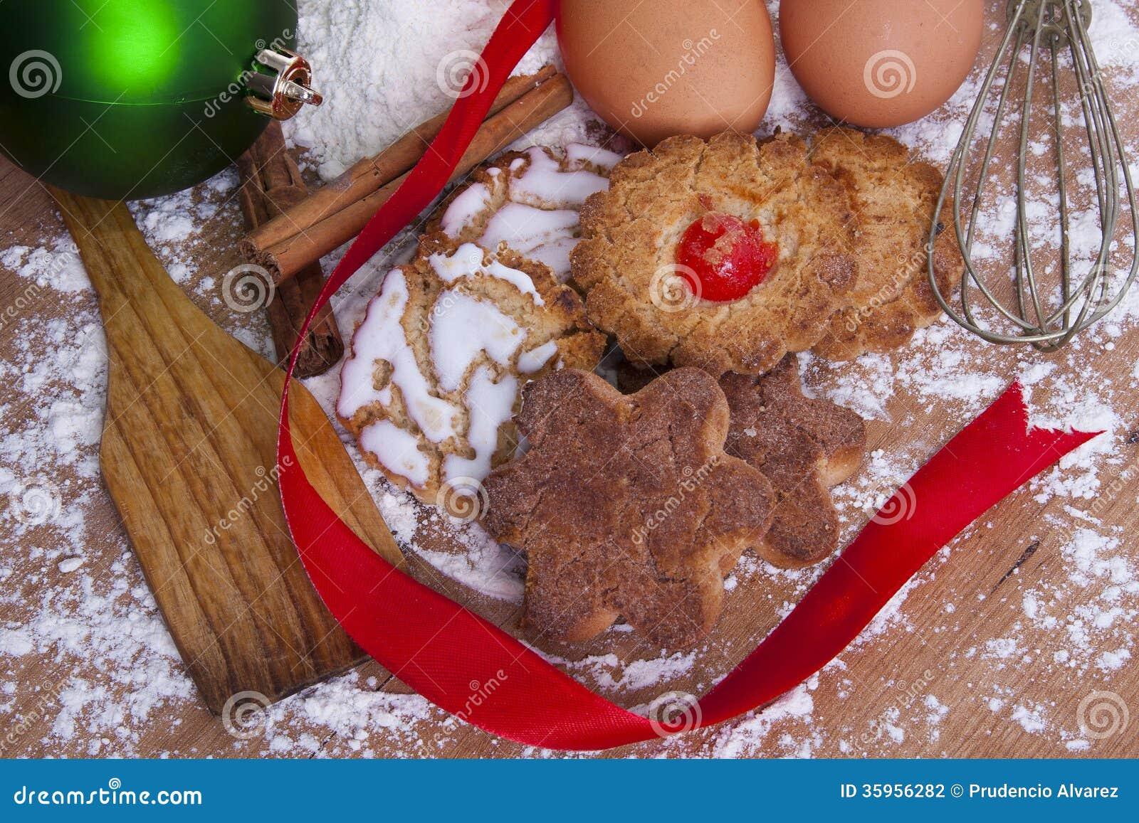 Dulces y pasteles de la Navidad