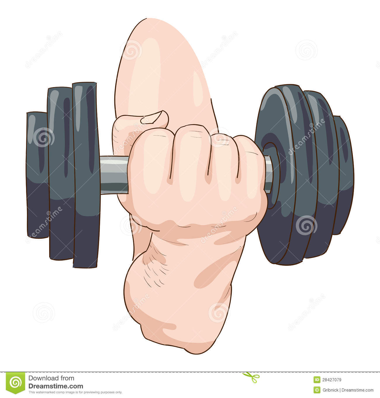 Dumbbell. Royalty Free Stock Images - Image: 28427079