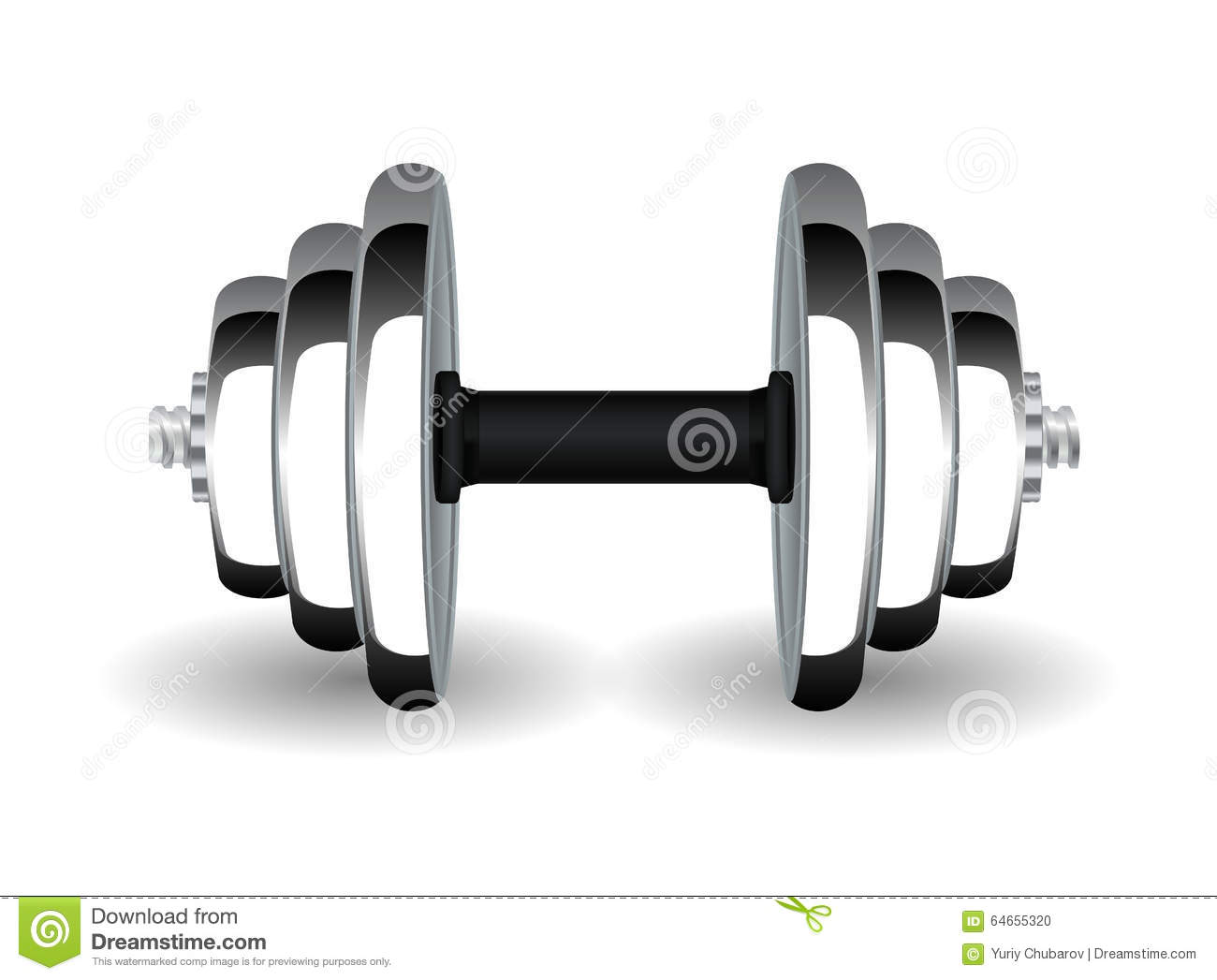 Dumbbell Stock Vector - Image: 64655320