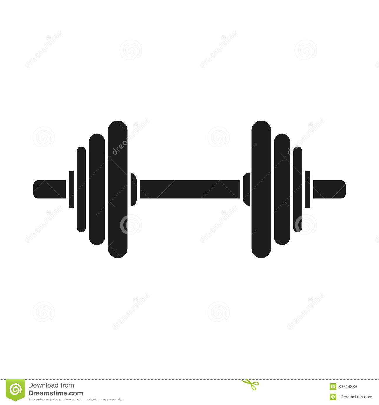Dumbbell Icon Vector Barbell And Dumbbell S...