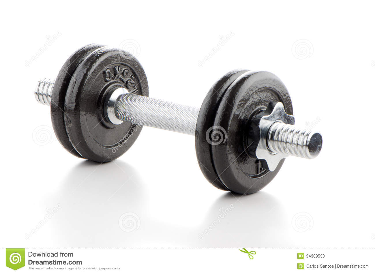Fitness Exercise Equipment Dumbbell Weights On White Background