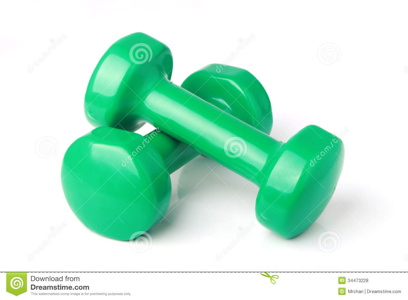 Dumbbell Weights Royalty Free Stock Photos Image 34473228