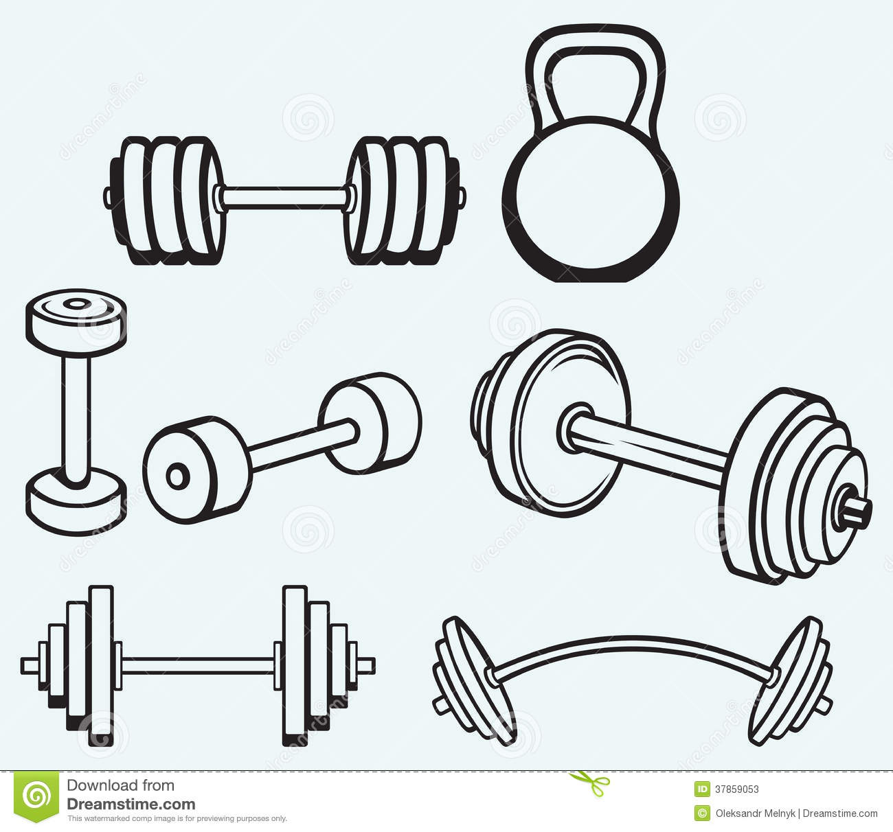 Dumbbells Icons Stock Photos - Image: 37859053