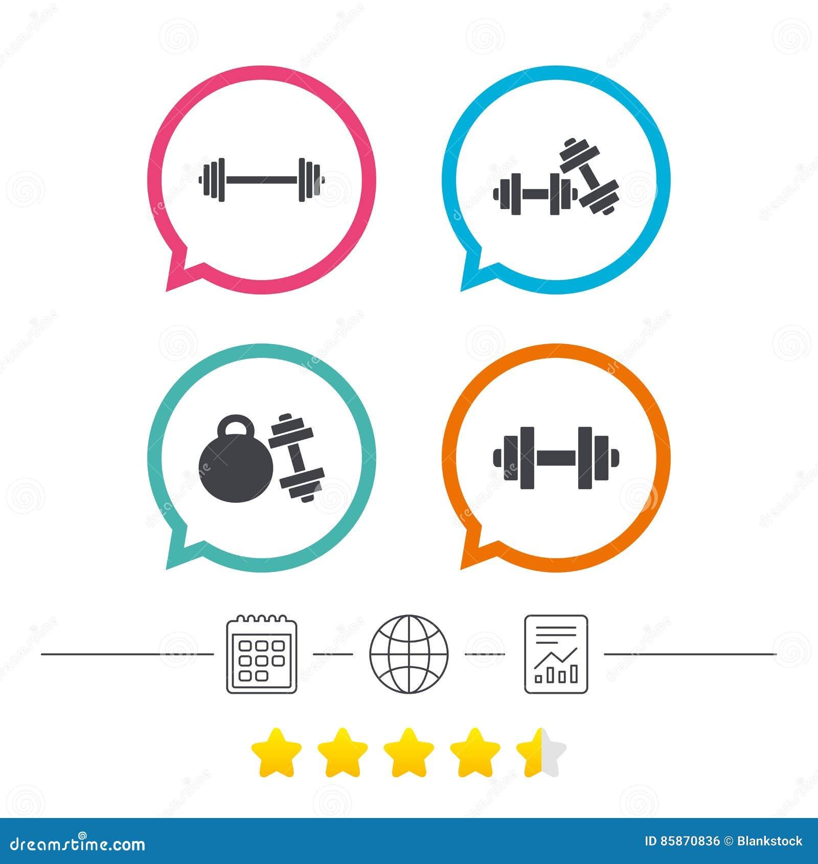 Dumbbells Icons. Fitness Sport Symbols. Stock Vector ...