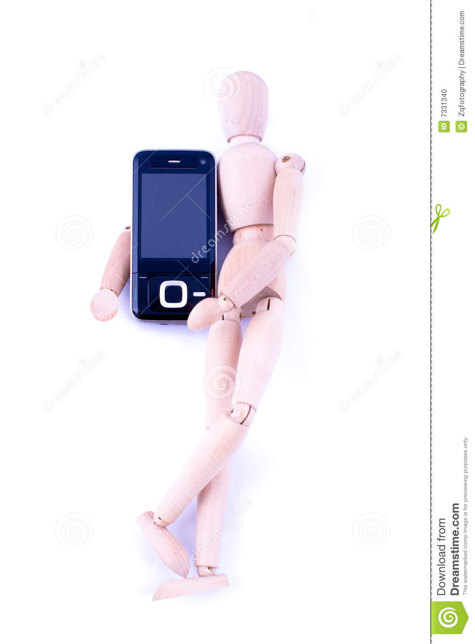 Dummy With Handphone Stock Photo Image Of Ring Wood 7331340