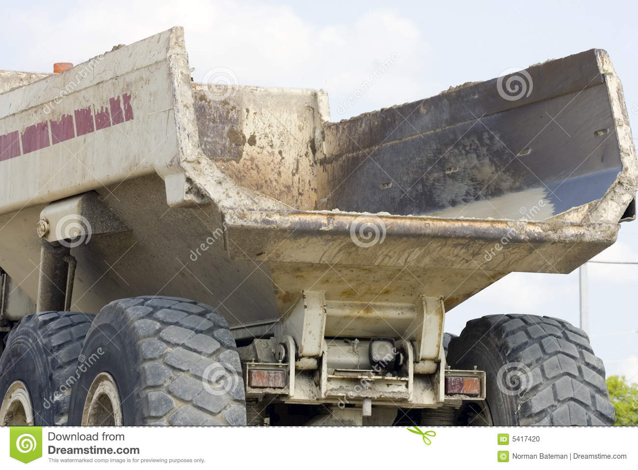 The Dump Bed From A Dump Truck Stock Image