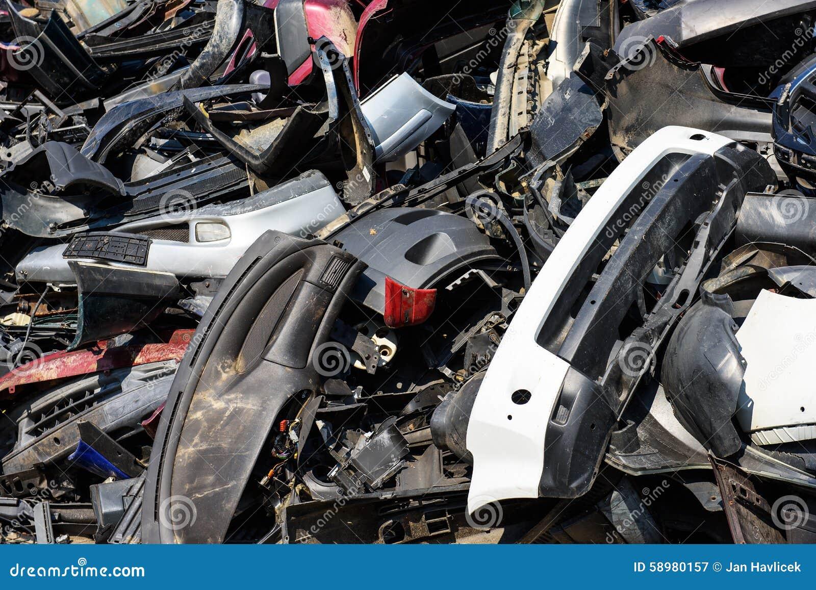 Dump of car wrecks stock image  Image of industrial, rubbish