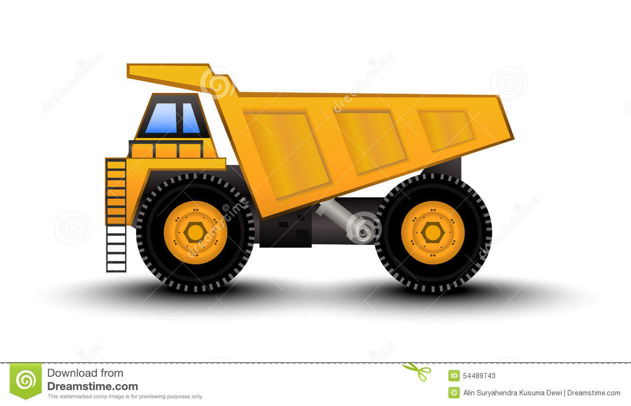 Dump Truck Cartoon Stock Vector - Image: 54489743