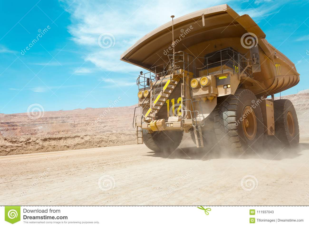 Dump truck at a copper mine