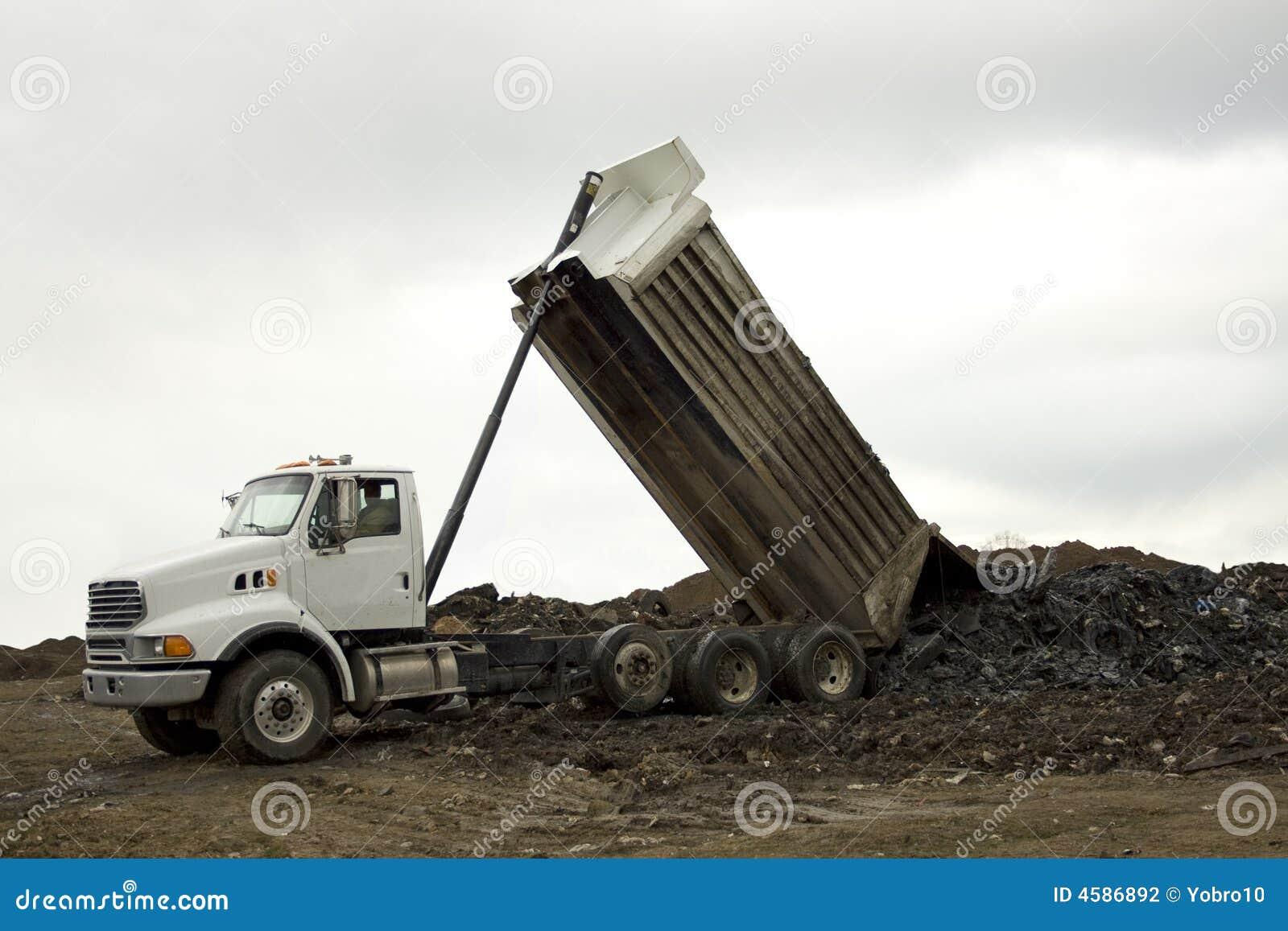 Dump Truck Unloading Stock Photo Image Of Excavator Excavate