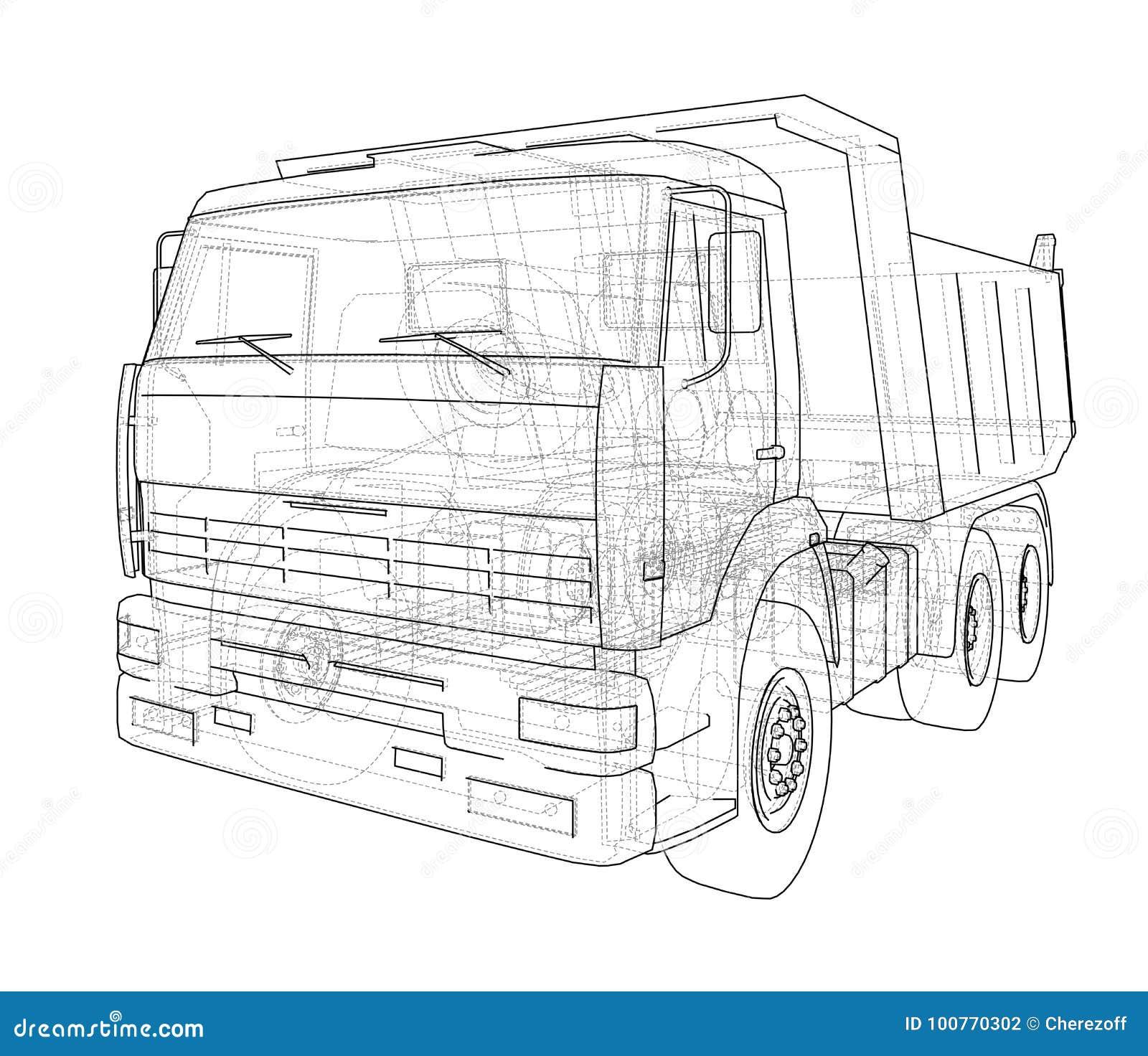 Dump truck Vecteur