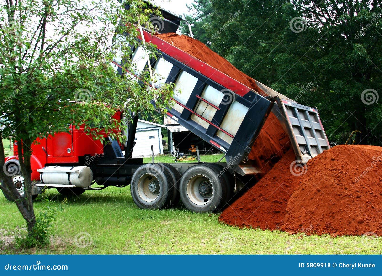 Dumping de camion à benne basculante