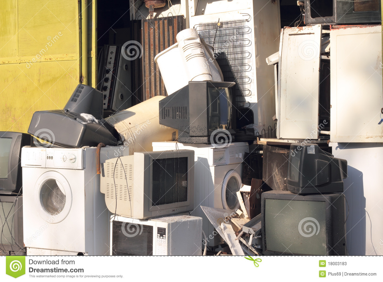 Dumping of household appliances