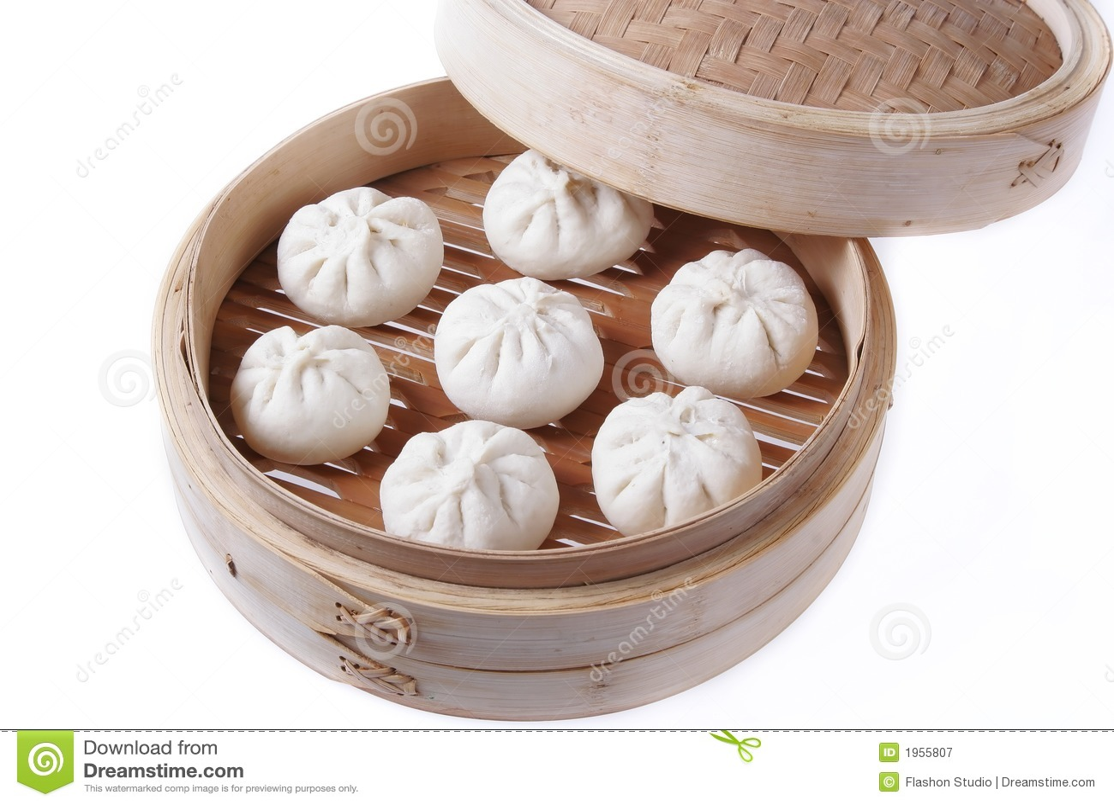 Dumplings In Bamboo Steamer Stock Image - Image of steam ...