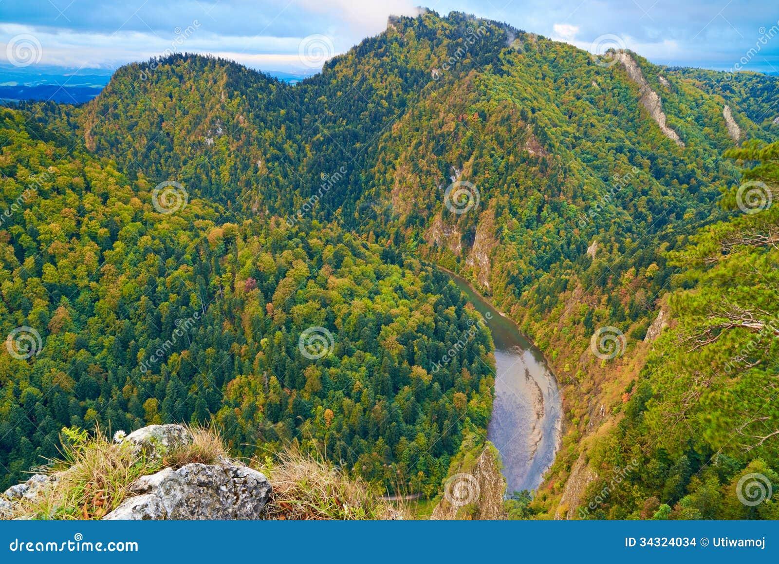 The Dunajec River Gorge. The Pieniny Mountains.