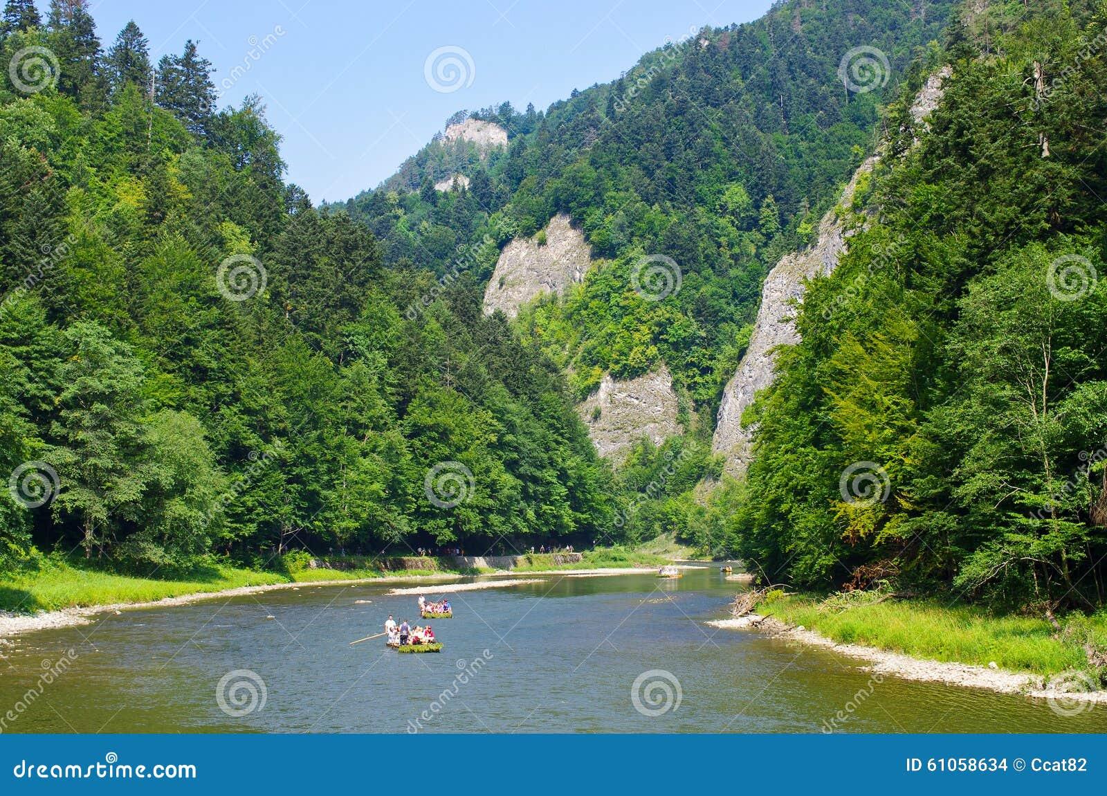 Dunajec river in Pieniny mountains, Poland