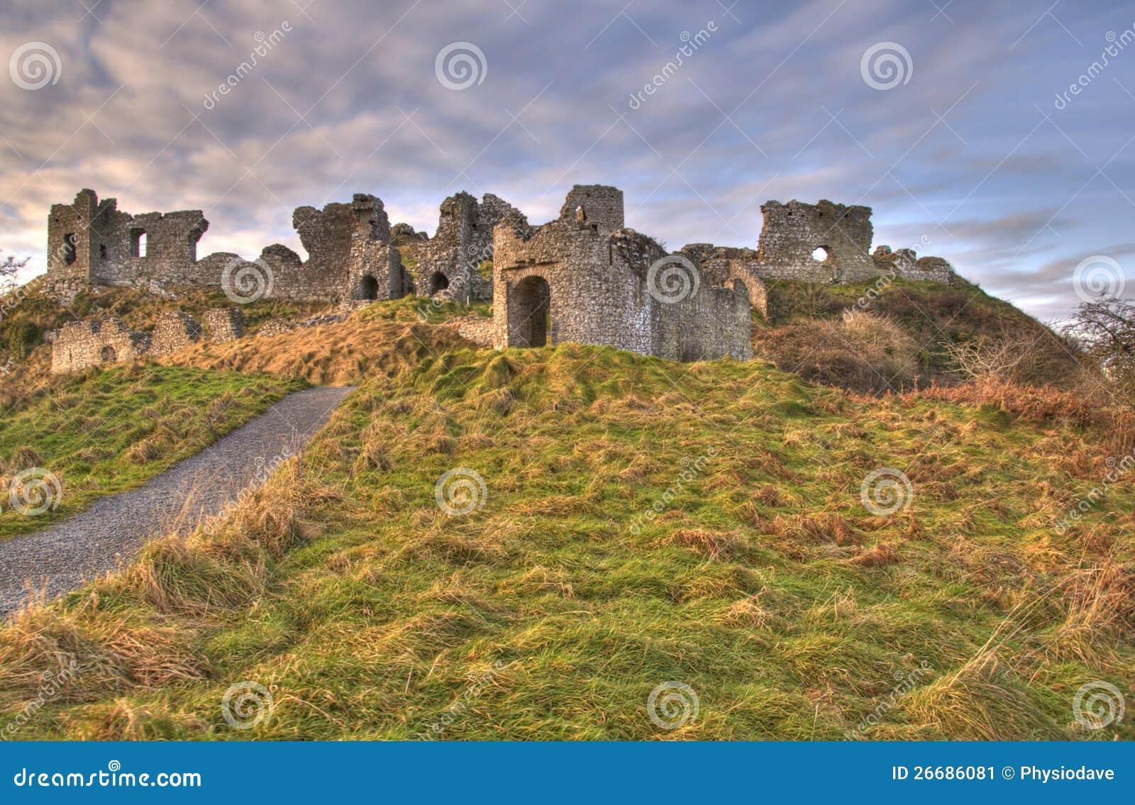 Dunamase Castle Portlaoise Ireland Stock Image Image