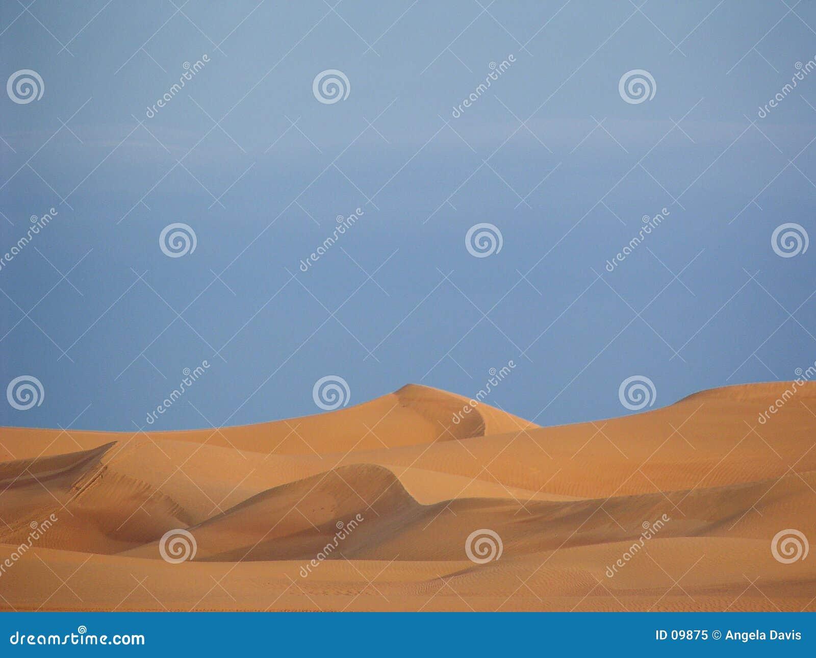 Dunas de areia árabes