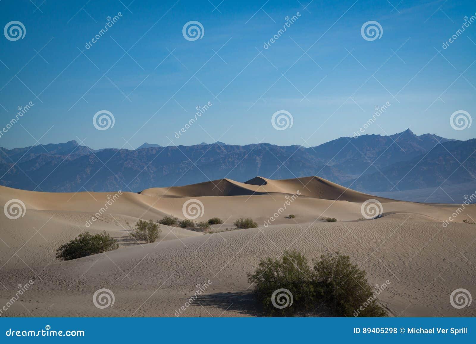 Dunas de areia lisas do Mesquite
