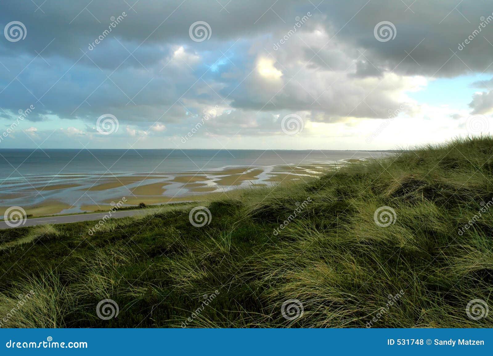 Dunas y tideland Sylt