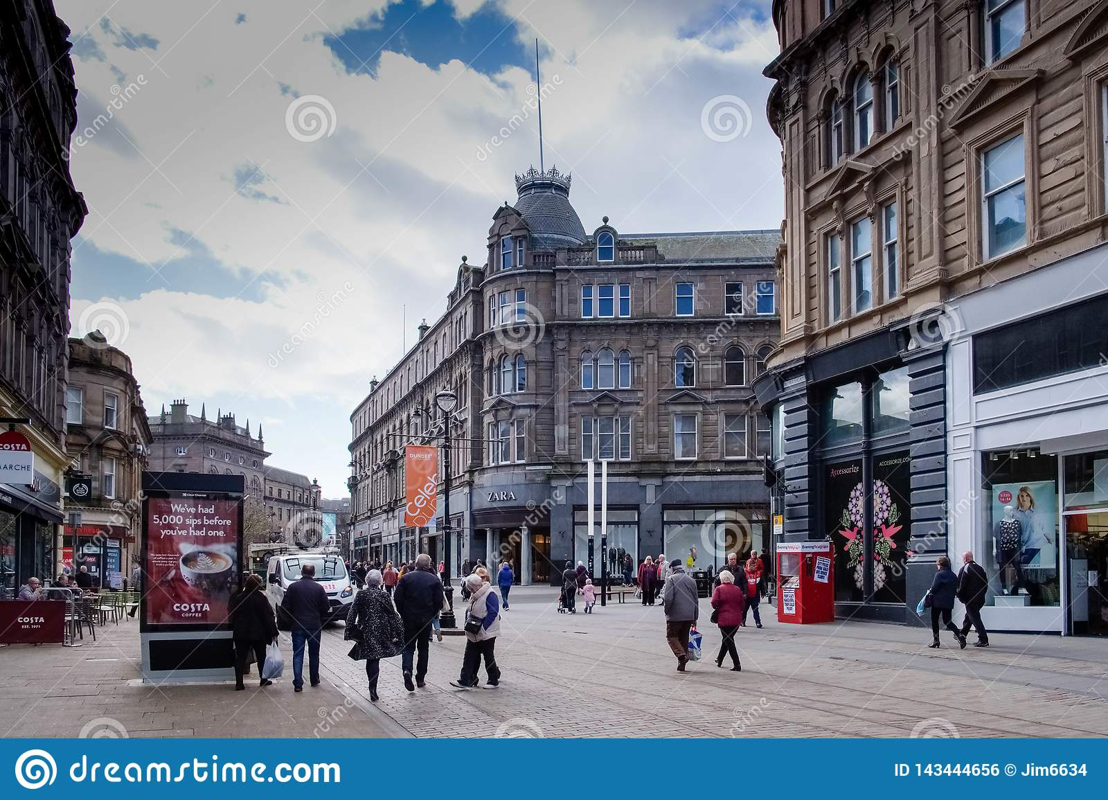 Dundee City Centre Looking Towards The Square From ...
