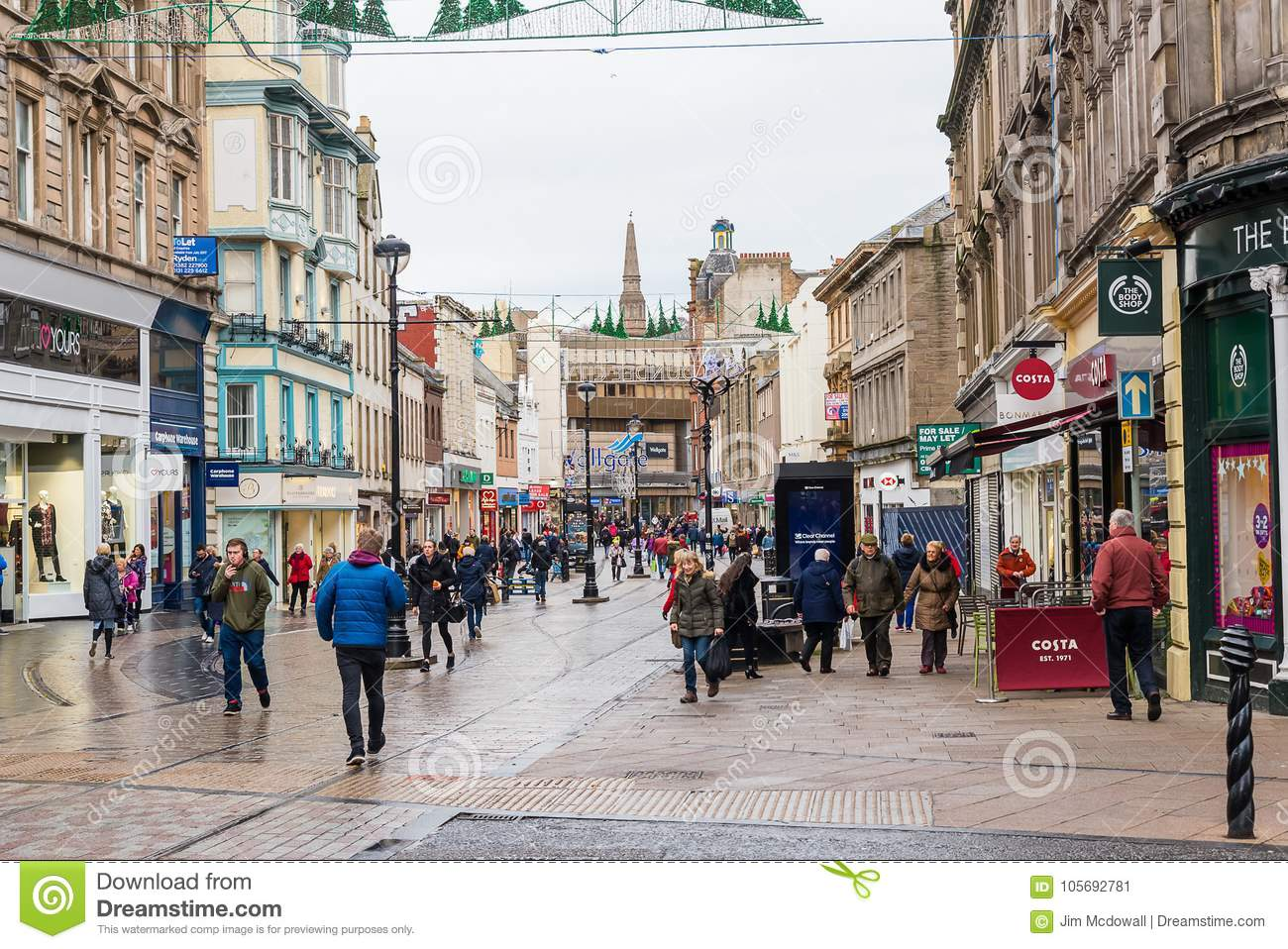 Wellgate Shopping Centre Dundee City Editorial Photo - Image of ...