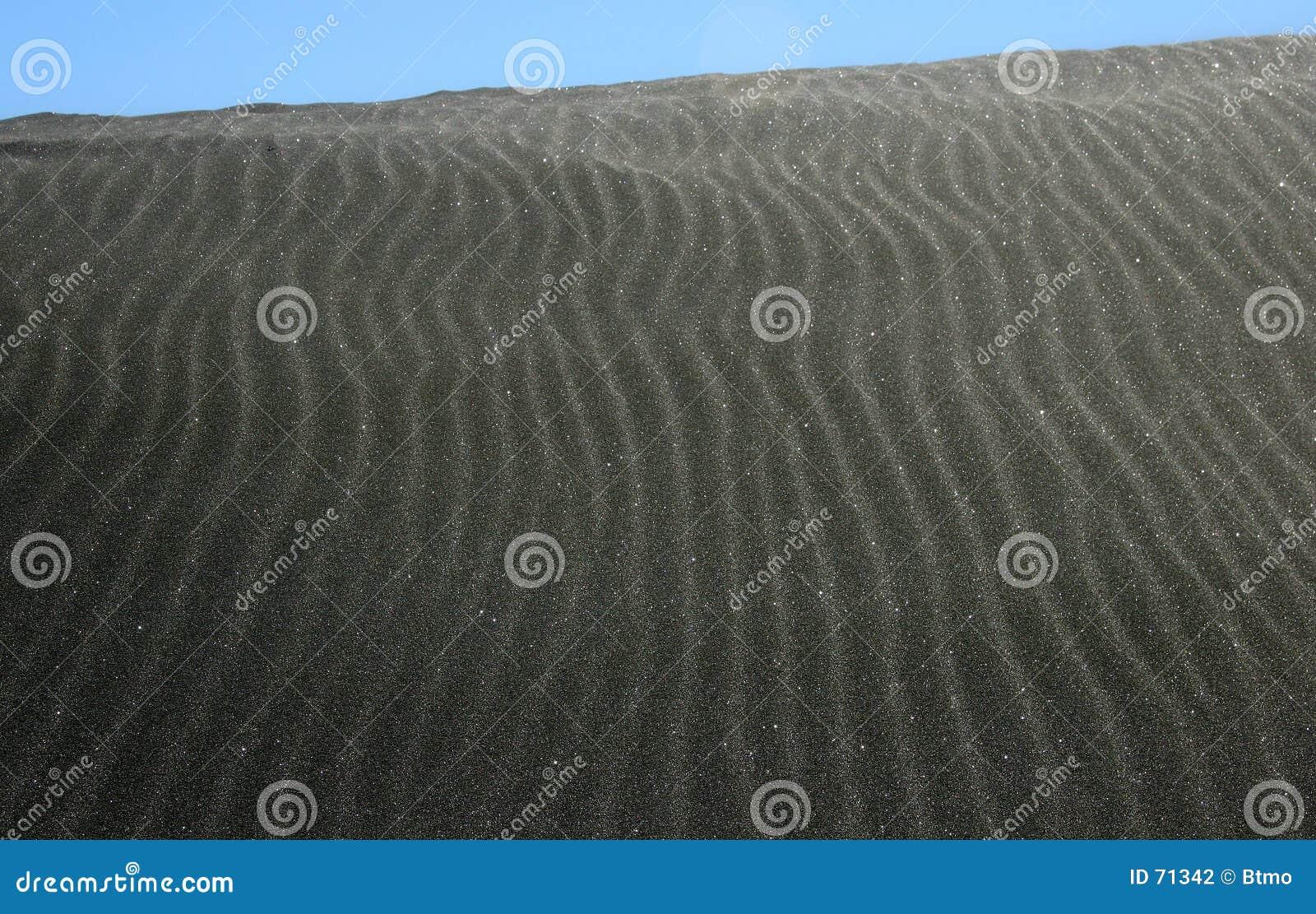 Dune de sable noire