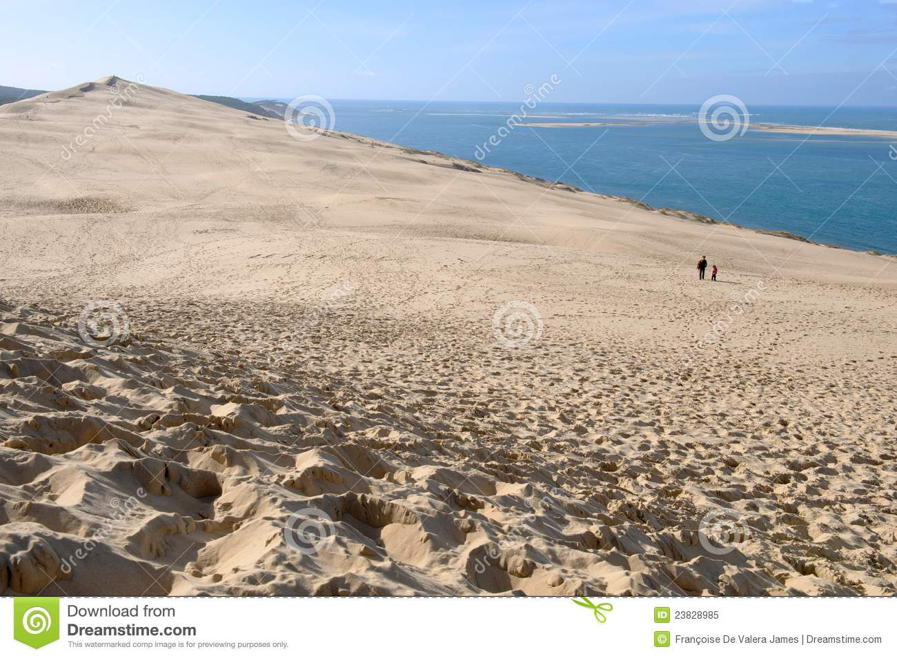 dune du pyla arcachon france stock image image 23828985. Black Bedroom Furniture Sets. Home Design Ideas