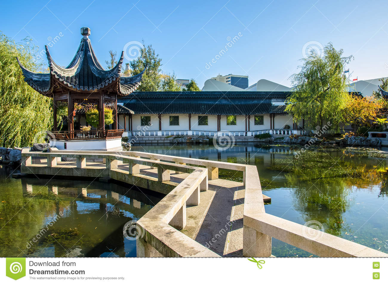 Fantastisch Download The Dunedin Chinese Garden In New Zealand. Editorial Photo   Image  Of Qing,