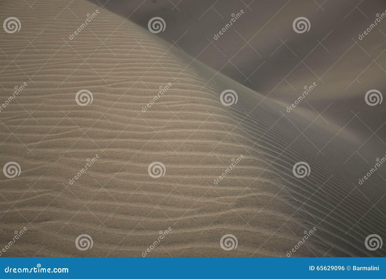 Dunes de sable, différentes textures, Maspalomas, mamie Canaria