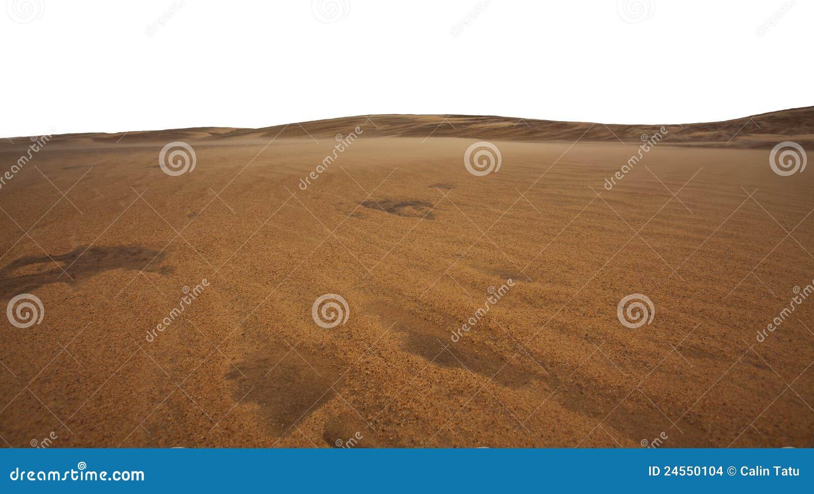 Dunes de sable et formations de sable dans le désert