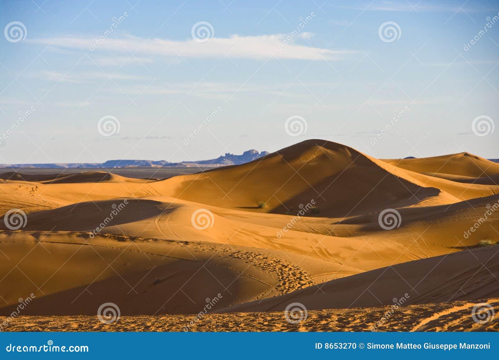 Dunes Sahara de désert