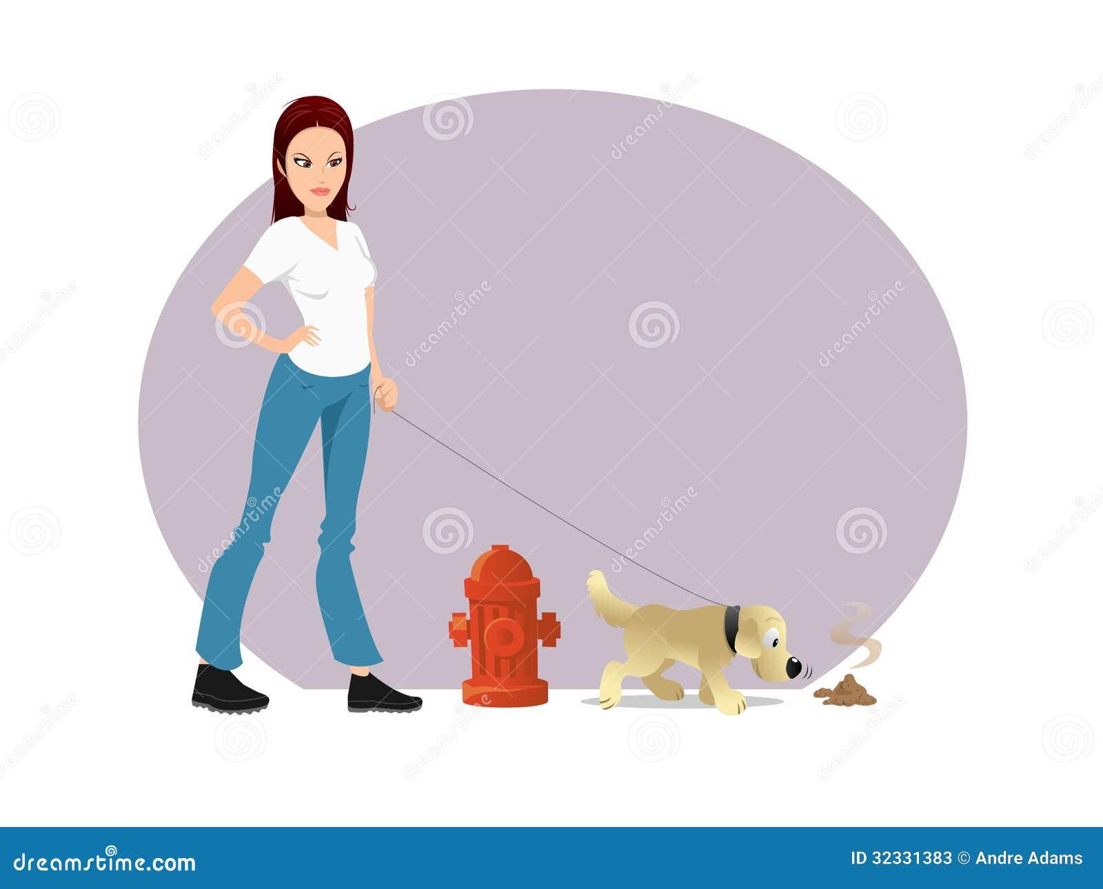 Dunette de propriétaire de chien