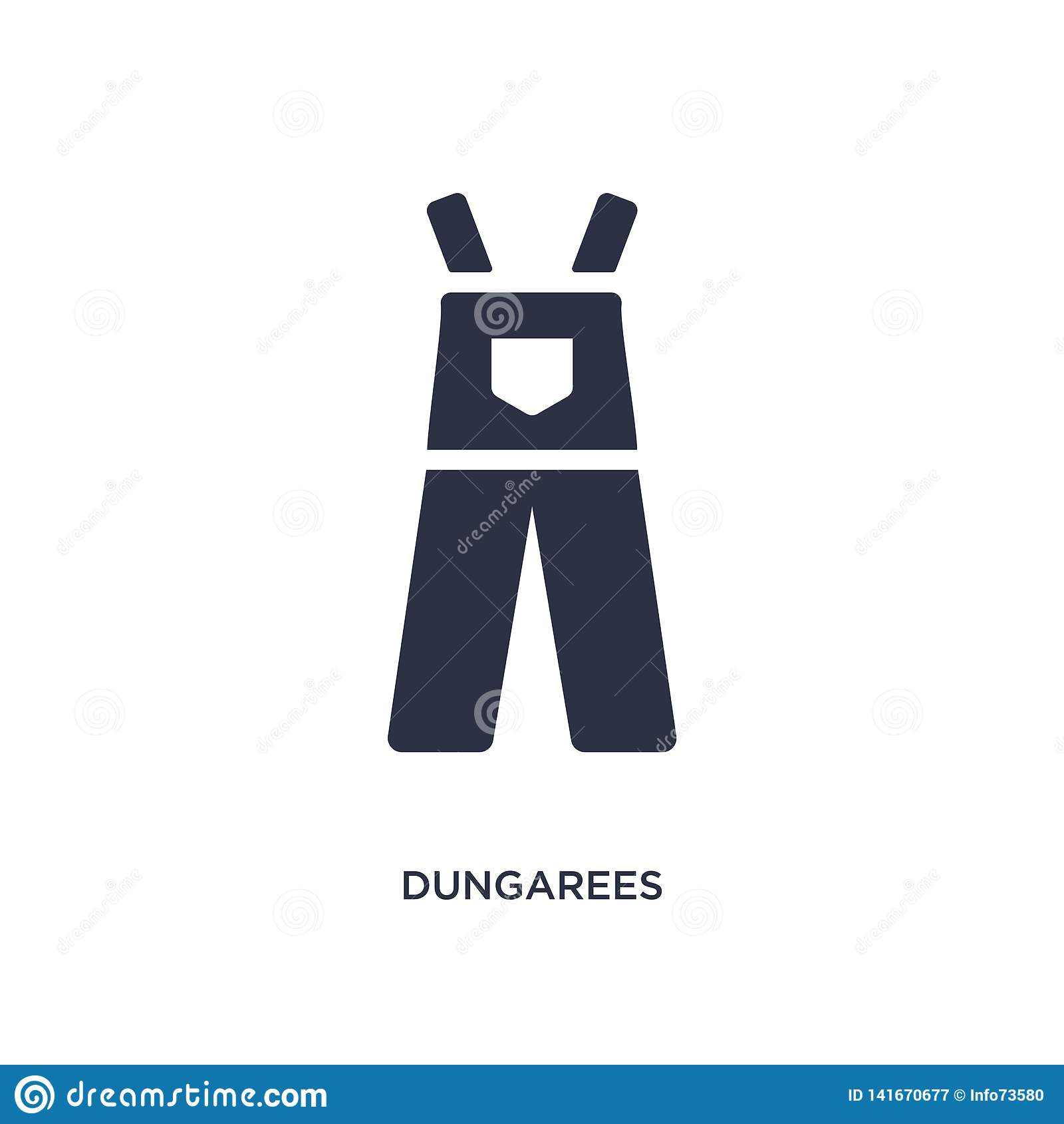 dungarees icon on white background. Simple element illustration from clothes concept