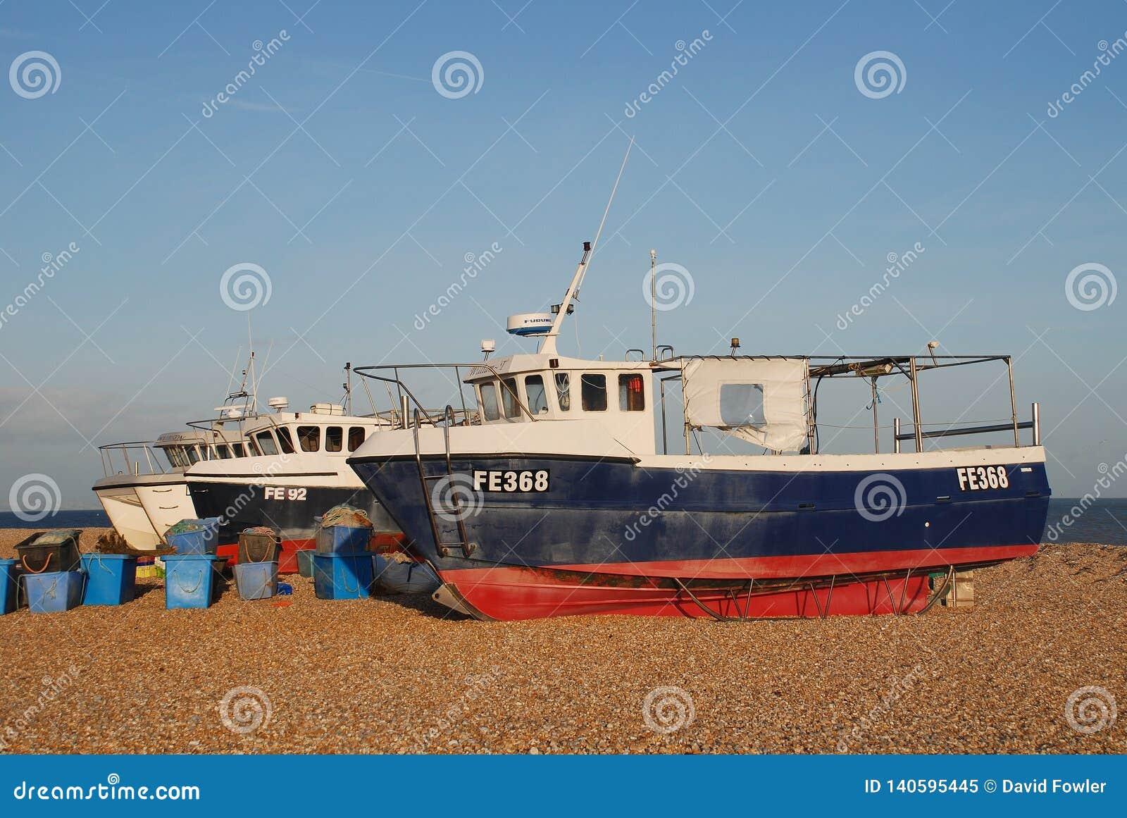 Dungeness łodzie rybackie, Anglia